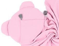 Set růžový světlý mušelínový se střapci