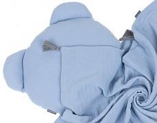 Set modrý mušelínový se střapci