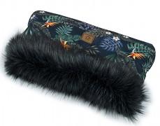 Rukávník tropicana s černým kožíškem
