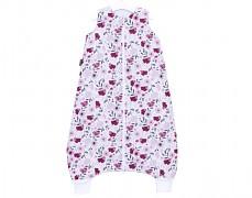 Dětský spací pytel macešky, s nohavičkou 80-98