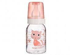 Lahev růžová Cute Animals 120ml