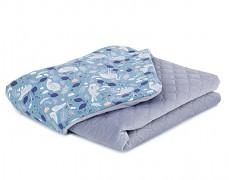 Dětská deka tmavé volavky velvet, LETNÍ 75x100