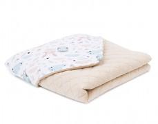 Dětská deka šedo-béžová velvet, LETNÍ 75x100