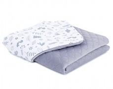Dětská deka šedý lesík velvet, LETNÍ 75x100