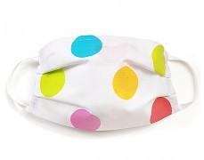 Bavlněná rouška barevné puntíky