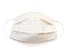 Bavlněná rouška béžová kostička