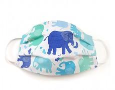 Bavlněná rouška modří sloníci
