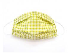 Bavlněná rouška zelená kostička