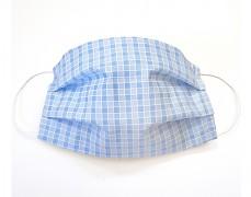 Bavlněná rouška modrá kostička