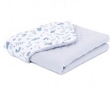 Dětská deka šedý lesík mušelín
