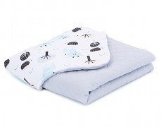 Dětská deka bílá srnka mušelín