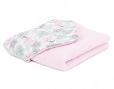 Dětská deka květy a listy mušelín