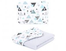 Set tyrkysové trojúhelníky mušelín