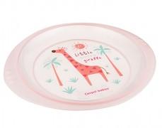 Plastový talíř růžový Afrika