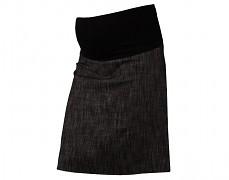 Těhu sukně černý melír