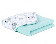 Dětská deka mint Forest Friends mušelín, LETNÍ