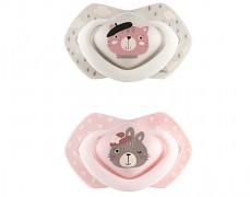 Dudlíky růžová BONJOUR PARIS 2ks