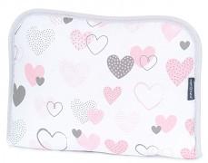 Cestovní přebalovací podložka pink heart