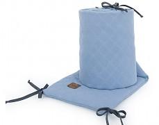 Mantinel modrý prošívaný mušelín