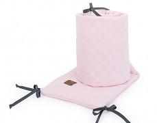 Mantinel růžový světlý prošívaný mušelín