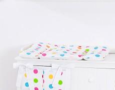 Přebalovací podložka barevné puntíky