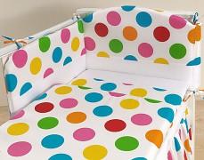 Dětské povlečení barevné puntíky velké