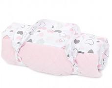 Pikniková deka růžová pink heart