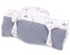 Pikniková deka šedá pink heart
