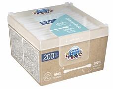 Bavlněné vatové tyčinky papírové 200ks