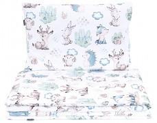 Dětské povlečení modré lesní 120x90