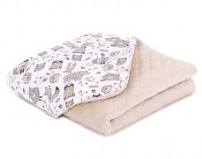 Dětská deka béžový les velvet