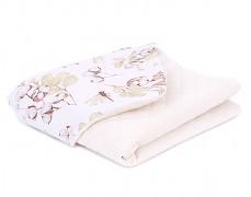Dětská deka bavlník s krémovou velvet