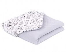 Dětská deka černo-bílý les mušelín