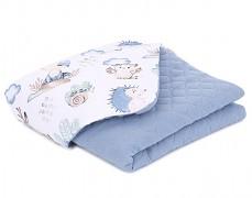 Dětská deka modrá lesní mušelín