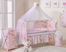 Moskytiéra růžová se spícími medvídky