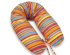 Relaxační polštář červené proužky