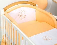 Mantinel oranžový medvídek na měsíci