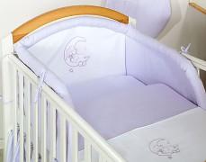 Dětské povlečení fialový medvídek na měsíci