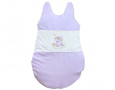 Dětský spací pytel fialový obláček