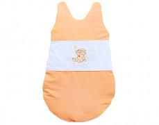Dětský spací pytel oranžový obláček
