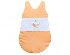 Dětský spací pytel oranžová houpačka