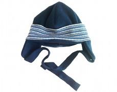 Čepička tm.modrá fleece