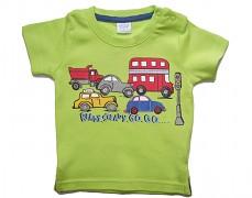 Tričko zelené s auty vel.86