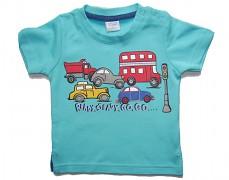 Tričko modré s auty