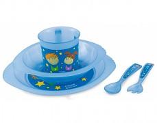 Dětská modrá sada nádobí Chlapeček