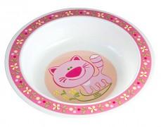 Dětská miska růžová Happy Animals