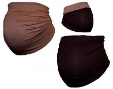 Těhu pás hnědo-béžový oboustranný