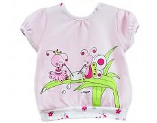 Tričko růžové broučci vel.86