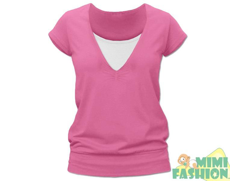 105f401f3b1a Kojící růžové tričko kr.rukáv