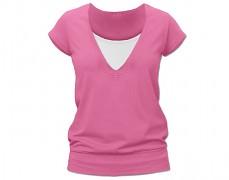 Kojící růžové tričko kr.rukáv